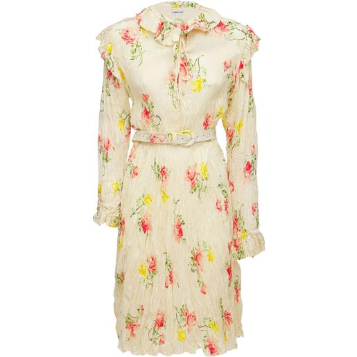 BALENCIAGA vestito asimmetrico in seta jacquard
