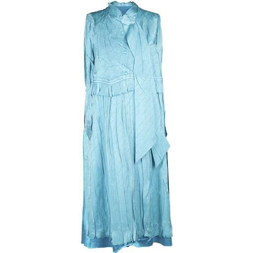 BALENCIAGA vestito senza maniche in seta jacquard
