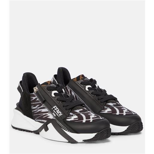 FENDI sneakers fluid con pelle