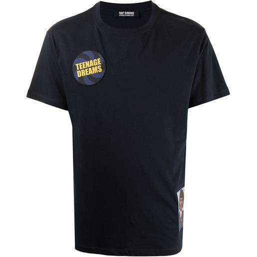 Raf Simons t-shirt con stampa - blu