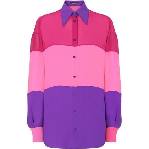 Dolce & Gabbana camicia con design color-block - rosa
