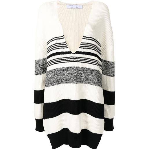 Proenza Schouler White Label maglione con scollo a v - bianco