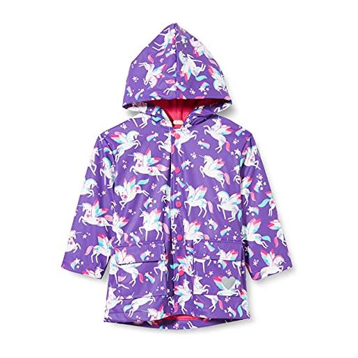 Hatley printed raincoat impermeabile stampato, twinkle unicorns, 4 years bambina