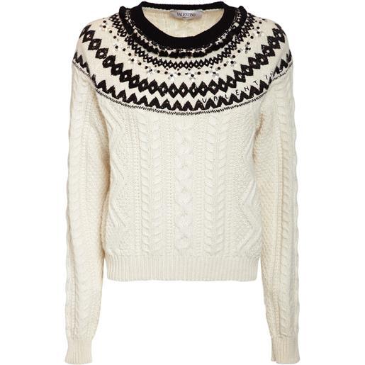 VALENTINO maglia in lana con ricami