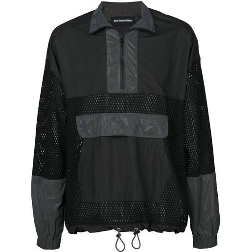 God's Masterful Children giacca a vento con pannello a rete - nero