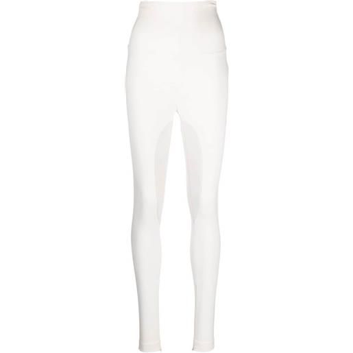 Philipp Plein leggings a vita alta - bianco