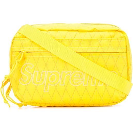 Supreme borsa a spalla con stampa - giallo