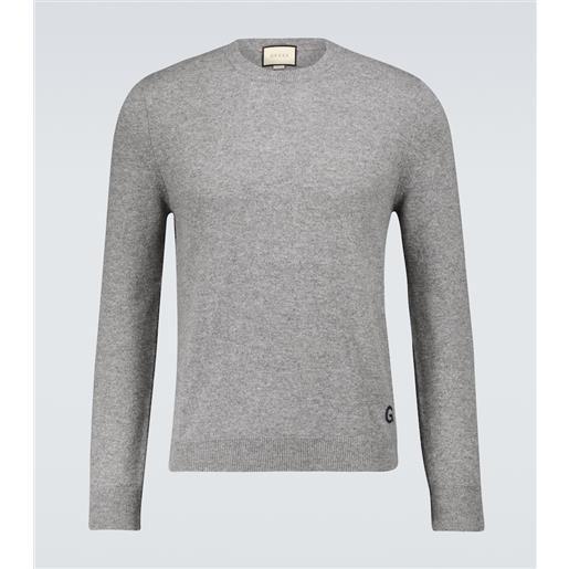 Gucci pullover in cashmere gg