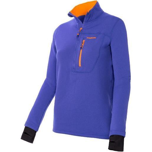 Trangoworld maglietta manica lunga trx2 stretch pro l royal blue