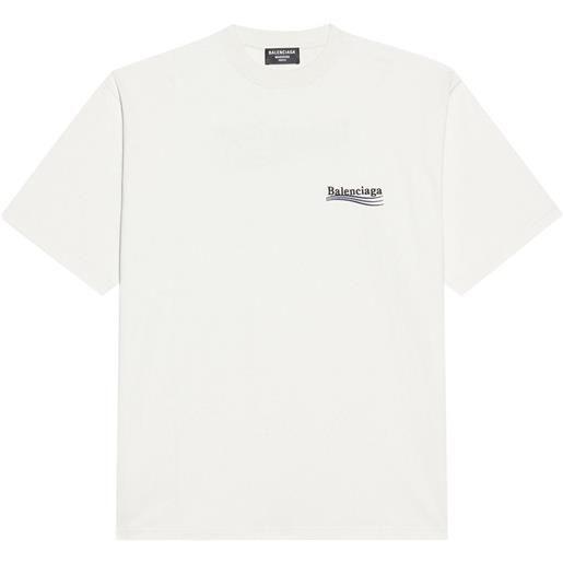 Balenciaga t-shirt campaign con logo - bianco