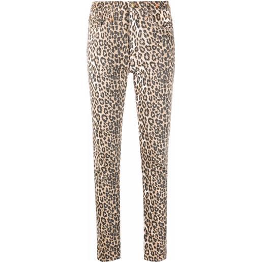 R13 jeans skinny con stampa - marrone
