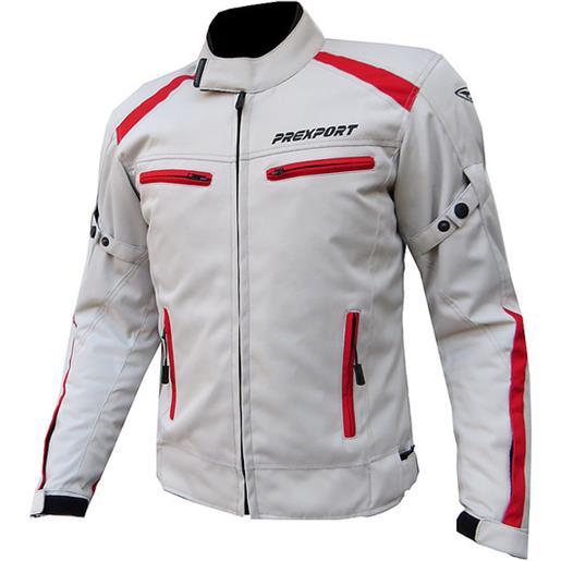 Prexport giubbotto moto in tessuto prexport europa bianco rosso