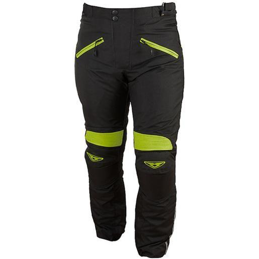 Prexport pantaloni donna tecnici prexport web impermeabili sfoderabili nero giallo fluo