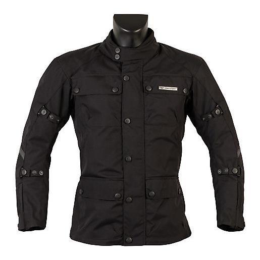 Prexport giacca moto in tessuto prexport city nero