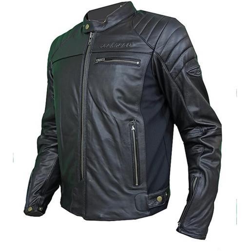 Prexport giacca moto in vera pelle prexport ghost nera