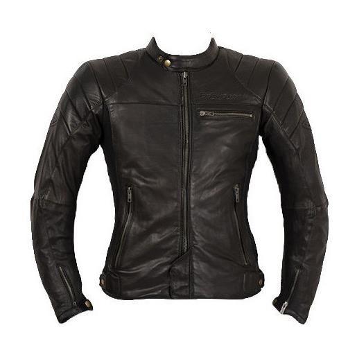 Prexport giacca moto donna in vera pelle prexport ghost lady nera