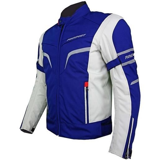 Prexport giacca moto in tessuto prexport milano impermeabile ice blu