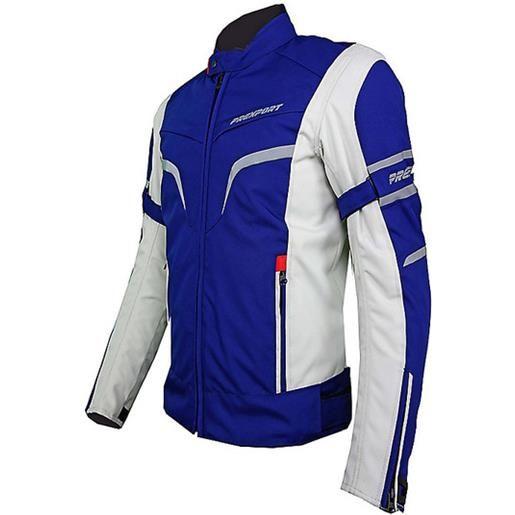 Prexport giacca moto in tessuto donna prexport milano lady impermeabile ice blu