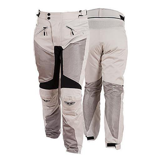 Prexport pantalone moto da donna in tessuto traforati estivi prexport ego lady grigio