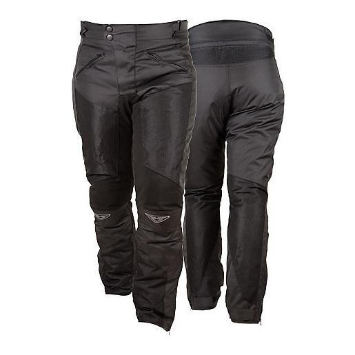 Prexport pantalone moto da donna in tessuto traforati estivi prexport ego lady nero
