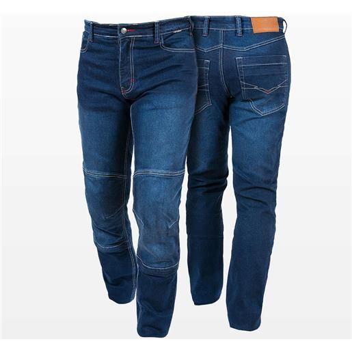 Prexport pantaloni moto jeans tecnici prexport denim con fibre aramidiche blu