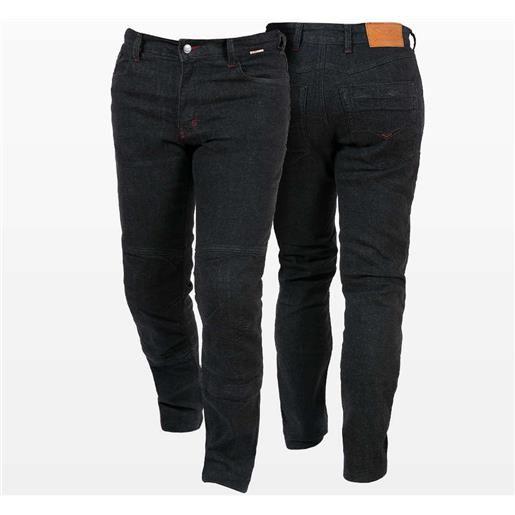 Prexport pantaloni moto jeans tecnici prexport freeway nero con fibre aramidiche nero
