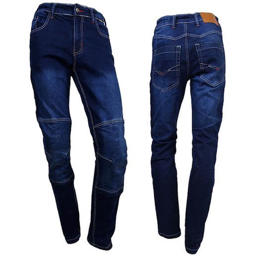 Prexport pantaloni moto jeans tecnici prexport denim lady navy con fibre aramidiche blu