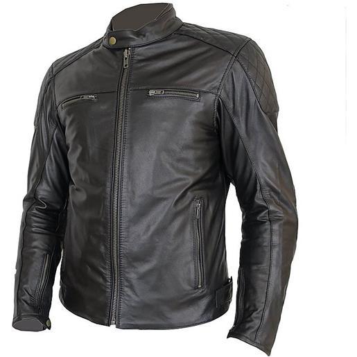 Prexport giacca moto in vera pelle morbidissima pxt diamond black vintage