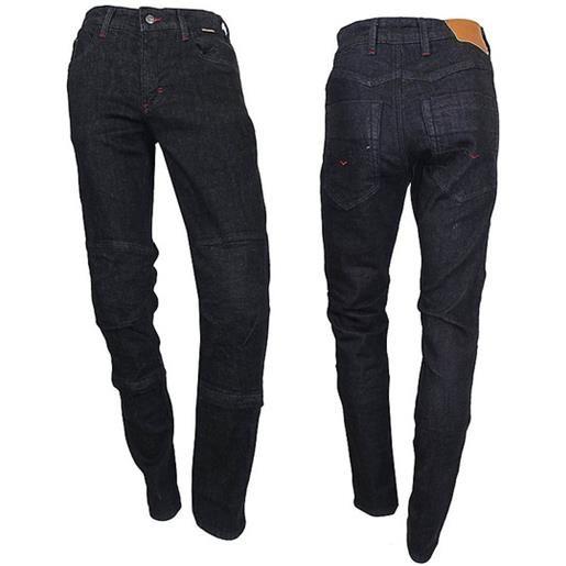 Prexport pantaloni moto jeans tecnici prexport freeway nero lady con fibre aramidiche nero
