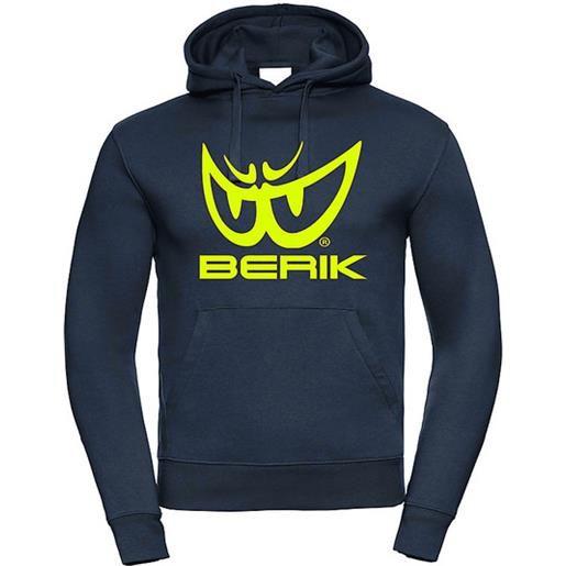 Berik felpa berik 2.0 con cappuccio fc12 stampata con logo navy blu original acid