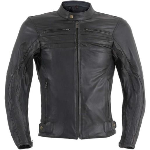 Prexport giacca moto in vera pelle prexport shadow nera