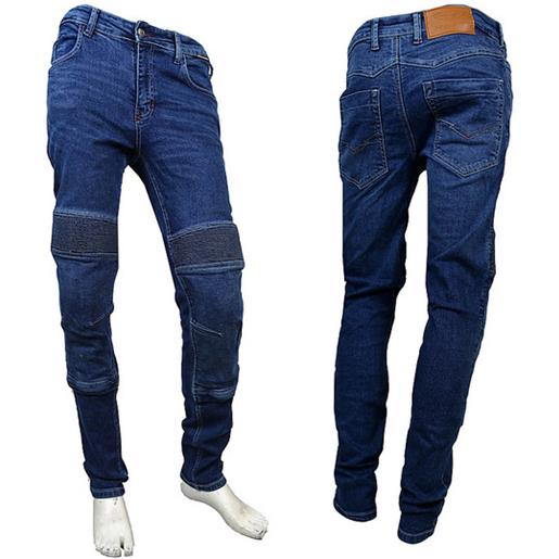 Prexport pantaloni moto jeans tecnici prexport freeway man con fibre aramidiche blu