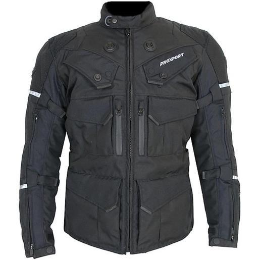 Prexport giacca moto in tessuto prexport goteborg 3 strati all black