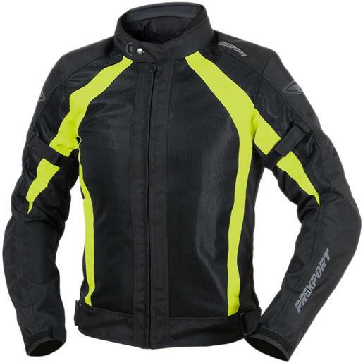 Prexport giubbotto moto traforato estivo prexport sahara nero giallo fluo