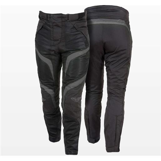 Prexport pantaloni moto traforati estivi 3 stagioni prexport desert wp nero grigio
