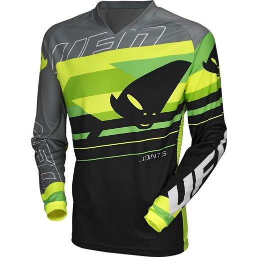 Ufo maglia moto cross enduro ufo joint gear nero giallo verde neon