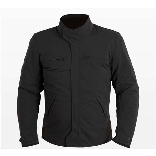 Prexport giacca moto in tessuto prexport modello short urban nera