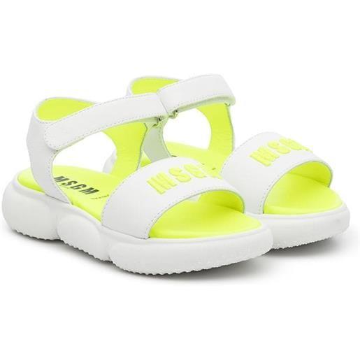 MSGM Kids sandali con chiusure a strappo - giallo