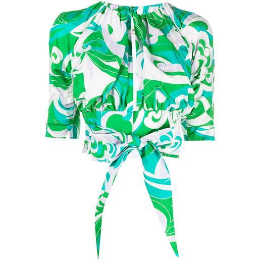 Emilio Pucci camicia albizia corta - verde