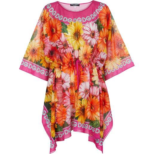 Dolce & Gabbana miniabito in cotone con stampa floreale