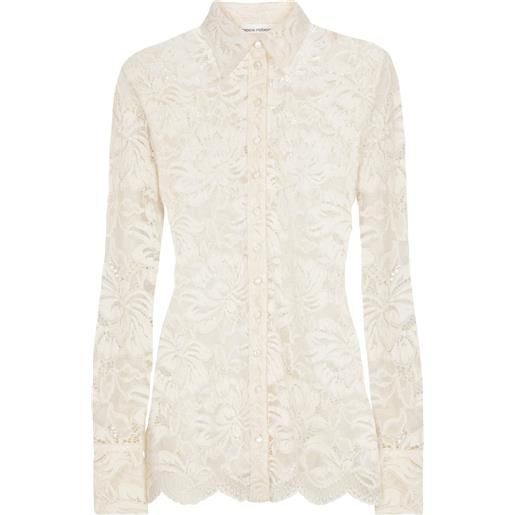 Paco Rabanne camicia in pizzo