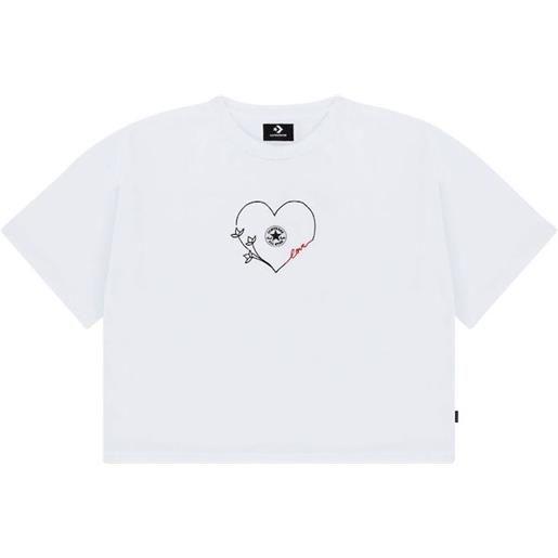 Converse t-shirt valentines chuck taylor love boxy donna bianco