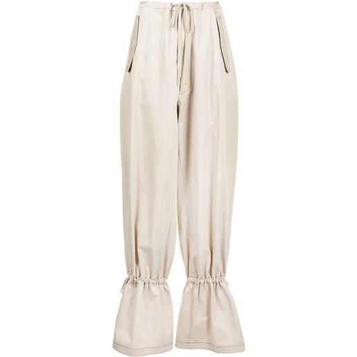 Dion Lee pantaloni affusolati - marrone