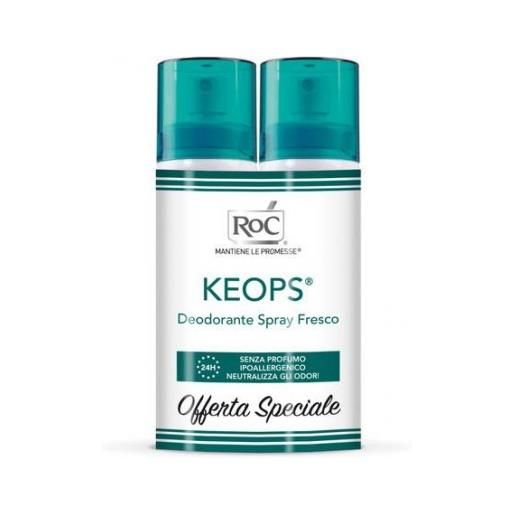 ROC OPCO LLC keops deodorante spray fresco roc 2x100ml