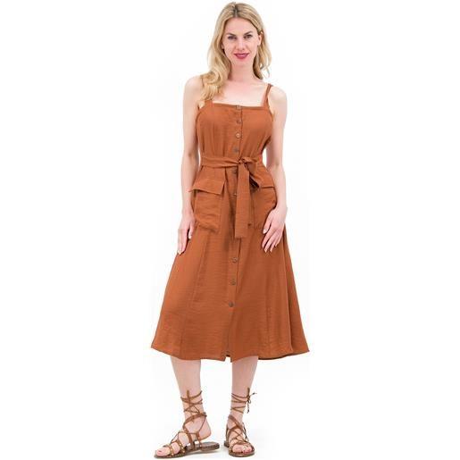 Demetra Closet abito longuette in viscosa e nylon aperto davanti