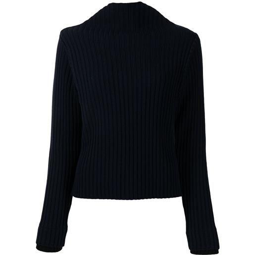 Ports 1961 maglione a coste - blu