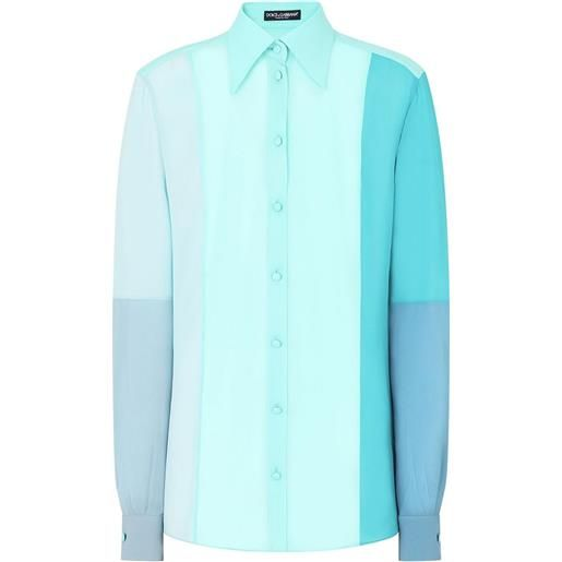 Dolce & Gabbana camicia con design color-block - blu