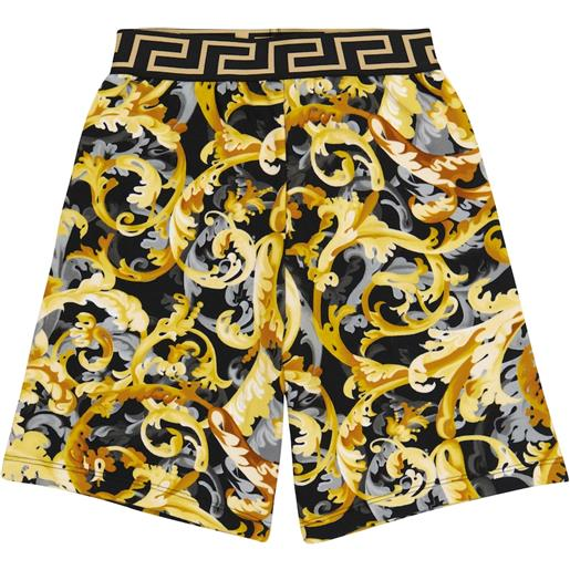 Versace Kids shorts in cotone con stampa baroccoflage