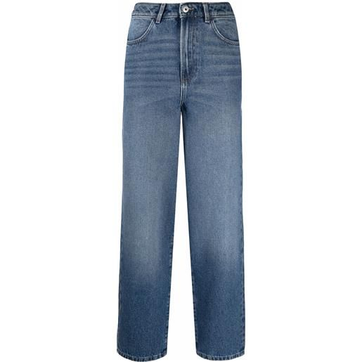 Les Coyotes De Paris jeans dritti crop - blu