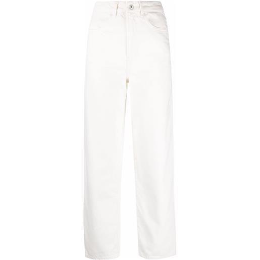 Les Coyotes De Paris jeans dritti crop - bianco